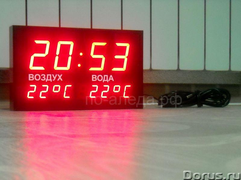 """Часы с термометром для бассейна """"Воздух"""", """"Вода"""" - Прочие товары - Часы с термометром класса Люкс дл..., фото 1"""